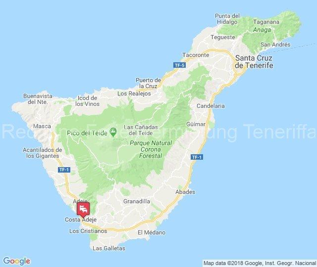 Ferien-Villa mit beheizbarem Privatpool in Playa las Americas karte