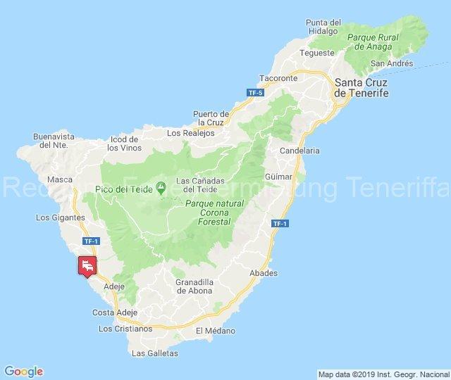 Strandnahe Ferienwohnung im ruhigen Callao Salvaje - karte