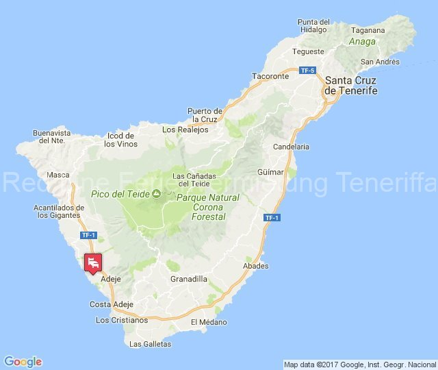 Teneriffa - Gemütliche 4 Personen Ferienwohnung mit Balkon in Playa Paraiso - karte