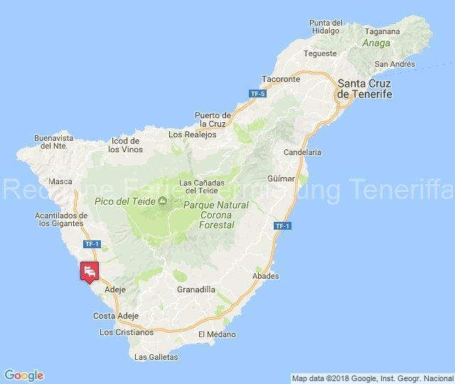 Teneriffa - Gut ausgestattete Ferienwohnung mit Pool am Strand in Callao Salvaje - karte