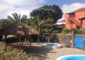 Teneriffa Ferienhaus. Los Viñedos de Marco-Herrenhaus auf Finca mit Pool und Garten.