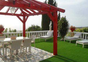 Teneriffa Luxus-Ferienhaus. Moderne Villa in Las Moraditas bei Adeje mit Garten und Pool.