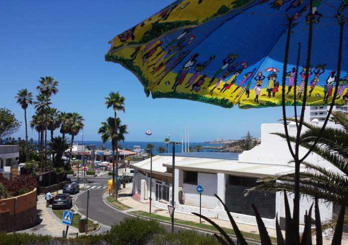 Teneriffa Strandwohnung in Las Americas mit Balkon mit Meerblick.