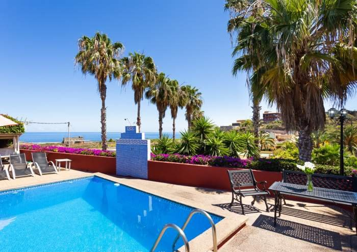 Teneriffa Ferienhaus in rustikalem Stil auf Finca in Buen Paso mit Pool
