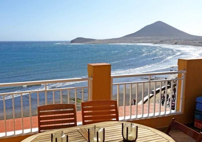 Teneriffa Strand-Luxus-Penthousewohnung im Surferparadies El Medano mit Terrasse