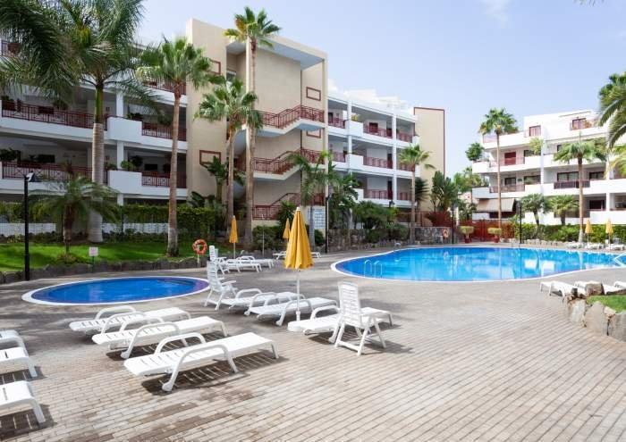 Teneriffa Schöne und moderne Ferienwohnung mit Pool und Kinderpool in Palm Mar