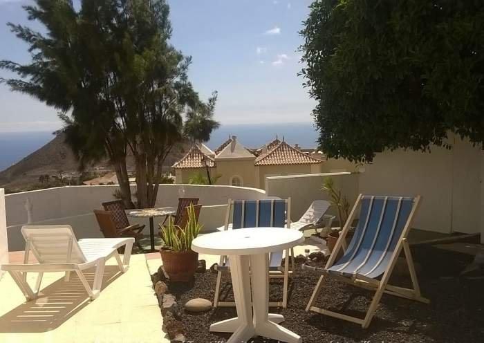 Teneriffa Loft in Chayofa mit Meerblick, privatem Garten und Pool