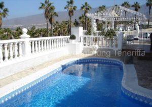 Teneriffa Luxus-Ferienhaus. Luxus-Villa mit Whirlpool-SZ, Privatpool und Pavillon in Adeje.