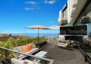 Teneriffa Luxus-Ferienvilla für 6 Personen mit Meerblick und beheiztem Pool bei Adeje