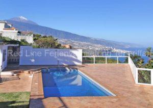 Teneriffa - Luxus-Ferienhaus in erster Meereslinie von Santa Ursula mit Privatpool und Meerblick