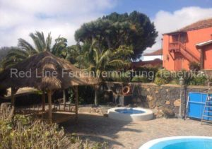 Teneriffa Luxus-Ferienhaus. Los Viñedos de Marco-Herrenhaus auf Finca mit Pool und Garten