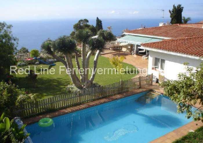 Teneriffa - Hochwertiges Luxus-Ferienhaus in bester Lage von Santa Ursula mit Garten und Pool