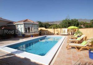 Teneriffa Luxus-Ferienhaus. Strandnahe Villa in Callao Salvaje mit Privatpool.