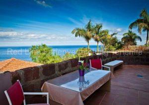 Teneriffa Ferienhaus. Bungalow mit Garten, Terrasse und Grill auf Bio-Finca in El Rincon