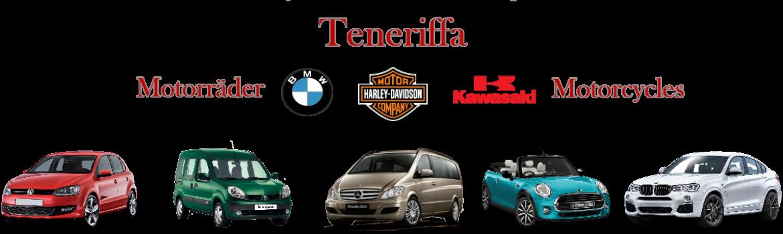 Teneriffa Autovermietung Mietwagen Teneriffa Motorradverleih