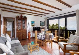 Teneriffa Ferienhaus. Gemütliches Ferienhaus auf einer Finca mit zwei Terrassen.