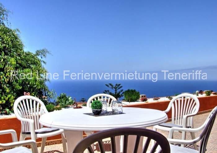 Teneriffa Luxus-Ferienhaus. Sehr gut ausgestatteter Bungalow in 4* Anlage mit tollem Meerblick
