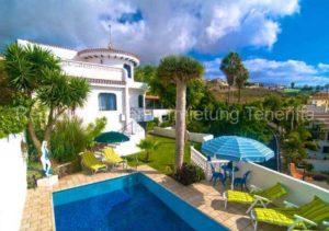 Teneriffa Luxus-Ferienhaus mit Privatpool in ruhiger Meerlage von El Sauzal