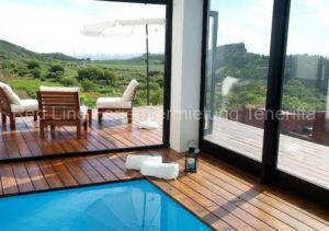 Teneriffa Luxus-Ferienhaus. Designer-Villa mit beheiztem Privatpool