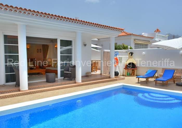 Teneriffa Luxus-Ferienhaus. illa mit beheiztem Privatpool, Wlan und Billardtisch in Costa Adeje