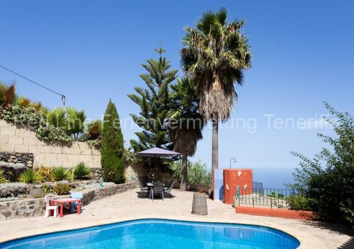 Teneriffa Luxus-ferienhaus. Traumhafte Finca mit Privatpool, Terrasse und tollem Ausblick bei Icod