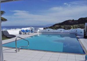 Teneriffa Luxus-Ferienhaus auf großer Finca mit Meer- und Bergblick und beheiztem Pool