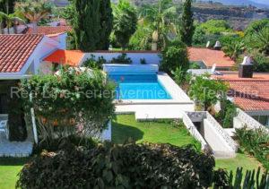 Teneriffa Luxus-Ferienhaus im tropischen Garten, Privatpool und tollem Blick am Meer
