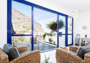 Teneriffa. Modernes Luxus-Ferienhaus mit Terrasse in Iguste de San Andrés