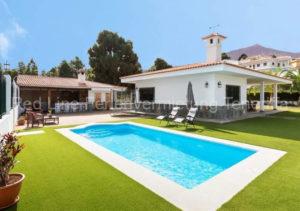 Urgemütliches Luxus-Ferienhaus mit Garten und Meerblick im Norden von Teneriffa