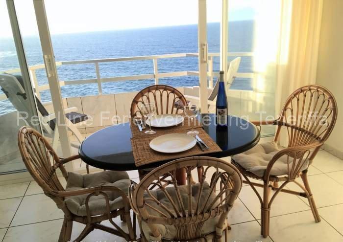 Preiswerte private Ferienwohnung am Meer mit Dachterrasse und traumhaften Rundumblick auf Teneriffa.