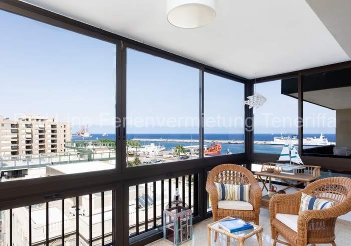 Komfortable moderne Ferienwohnung mit Meerblick in Santa Cruz de Tenerife