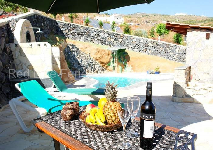 Preiswerte private Ferienwohnung, (Studio) für Alleinreisende auf Finca mit Pool und Terrasse im Südwesten Teneriffa
