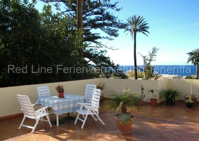 Teneriffa. Preiswerte günstig private Ferienwohnung mit Dachterrasse und Meerblick