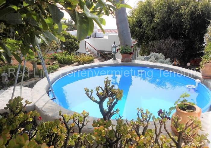 Finca Ferienhaus am Meer mitmediterranem Garten, Terrasse und Pool in El Sauzal